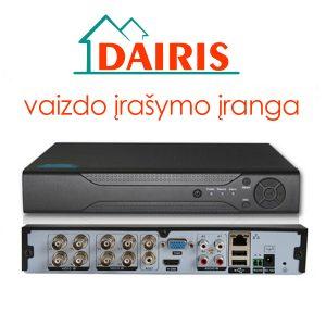 Dairis DVR vaizdo stebejimo irasymas